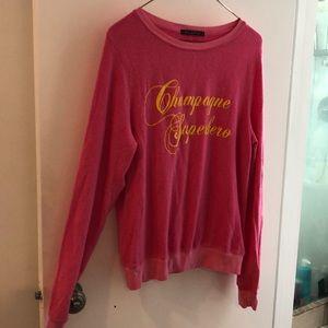 Champagne Superhero Wildfox sweatshirt